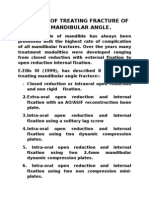 Methods of Treating Fracture of the Mandibular Angle (1)