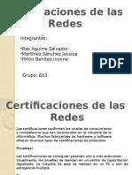 Certificación de Las Redes