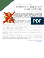 Adulterar El Certificado Médico Es Causal de Despido