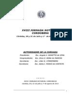 Conclusiones 18Jornada Notarial Cordobesa 2015