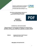 Informe Final Capacidad de Carga_Sendero El Porvenir