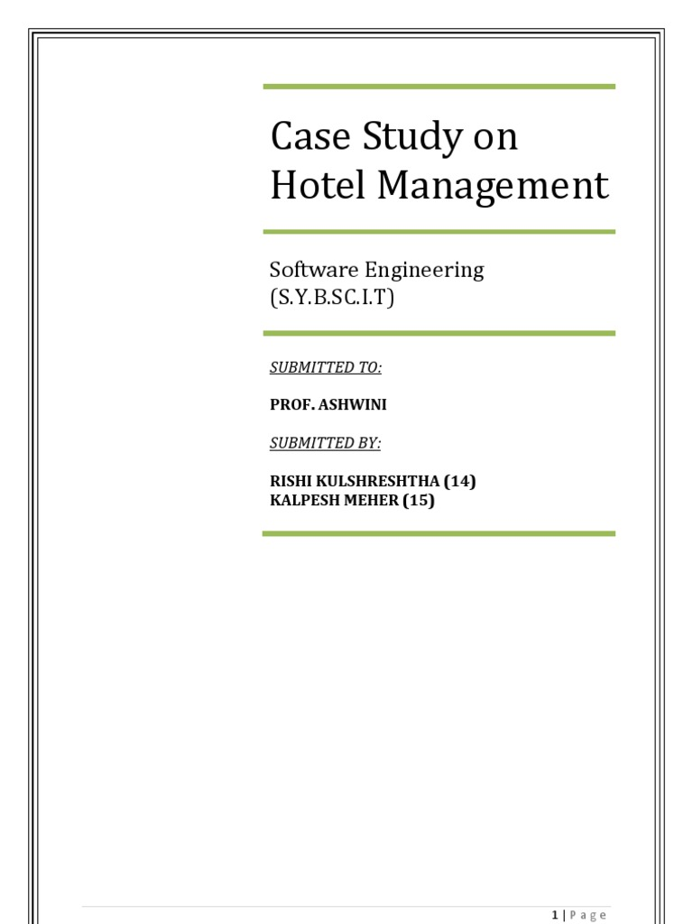 Hotel management case study grocery store software ccuart Choice Image