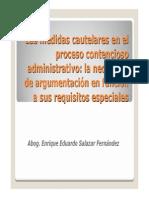 CSJLA D Las Medidas Cautelares en El Proceso Contencioso Administrativo
