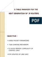 Distributed  and scalable routing table manager for the next generation of ip routers