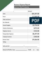 Expense Report Amazing Race