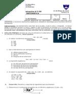 Evaluación N°3 7°A