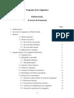 Programa Analitico Fisiología (Farmacia)