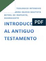 Introduccion Al Antiguo Testamento Alumnos