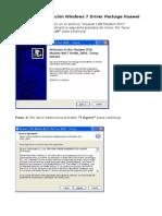 Guía de Instalación Windows 7 Driver Package Huawei
