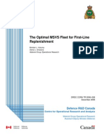 Report - The Optimal MSVS Fleet for First-Line Replenishment