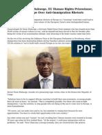 Congo's Dr Denis Mukwege, EU Human Rights Prizewinner, 'Worried' For Europe Over Anti-Immigration Rhetoric