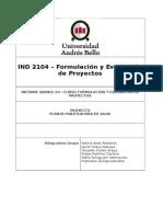 Evaluación de Proyectos, planta purificadora