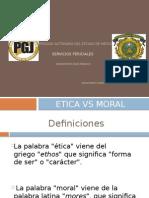 Deodotologia Etica vs Moral