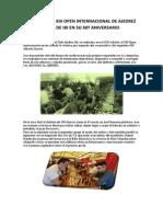 Crónica Del Xiii Open Internacional de Ajedrez Villa de Ibi en Su 60º Aniversariox