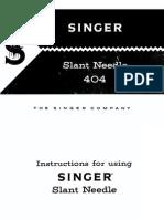 Manual Singer 404
