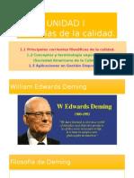Unidad 1 FILOSOFIAS DE LA CALIDAD