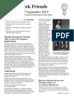 GC Newsletter September 2015