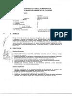 Syllabus de manejo de cuencas