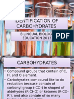 Identification of Carbohydrates