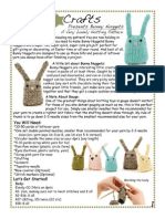 Danger Crafts Bunny Nugget Knitting Pattern