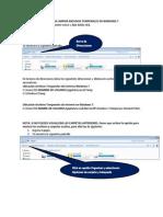 Guia Para Limpiar Archivos Temporales en Windows 7