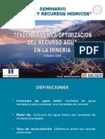 03.- Tendencias endencias en la Optimizacion del Recurso Agua en la Mineriaen La Optimizacion Del Recurso Agua en La Mineria