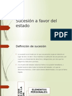 Sucesion a Favor Del Estado