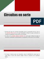 Analizar Circuitos Resistivos en Corriente Continua, Conectadas en Serie