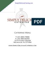 Corporate Catering Menu North Jersey NJ Serving Newark Jersey City Hudson County