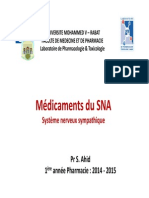 Pharmacologie du système nerveu sympathique