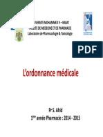Ordonnance Médicale