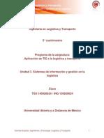 Unidad 3. Sistemas de Informacion y Gestion en La Logistica