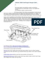 Cara Mengetahui Radiator Tidak Berfungsi Dengan Baik