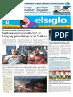 Edicion Impresa Elsiglo 08-09-2015
