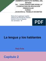 la lengua y los hablantes  1