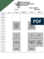 Horario Enero - Junio 2015 - UDG