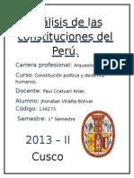 Análisis de Las Constituciones Del Perú