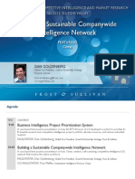 Goldenberg Dan -Building a Company-Wide Intelligence Network Best Practice Guidebook Tue 11am Think Tank 5