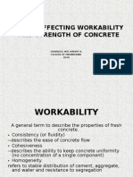 Factor Affecting Work Ability and Strenth of Concrete