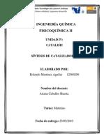 Unidad IV Fisicoquímica Rolando Martinez Aguilar