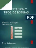 Clasificación y Tipos de Bombas