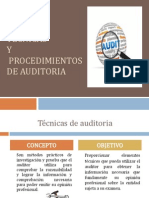 05 Tecnicas y Procedimientos de Auditoria