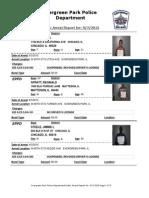 Evergreen Park Arrests Aug. 27-Sep. 3, 2015