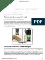 Transistor Intercom System Circuit