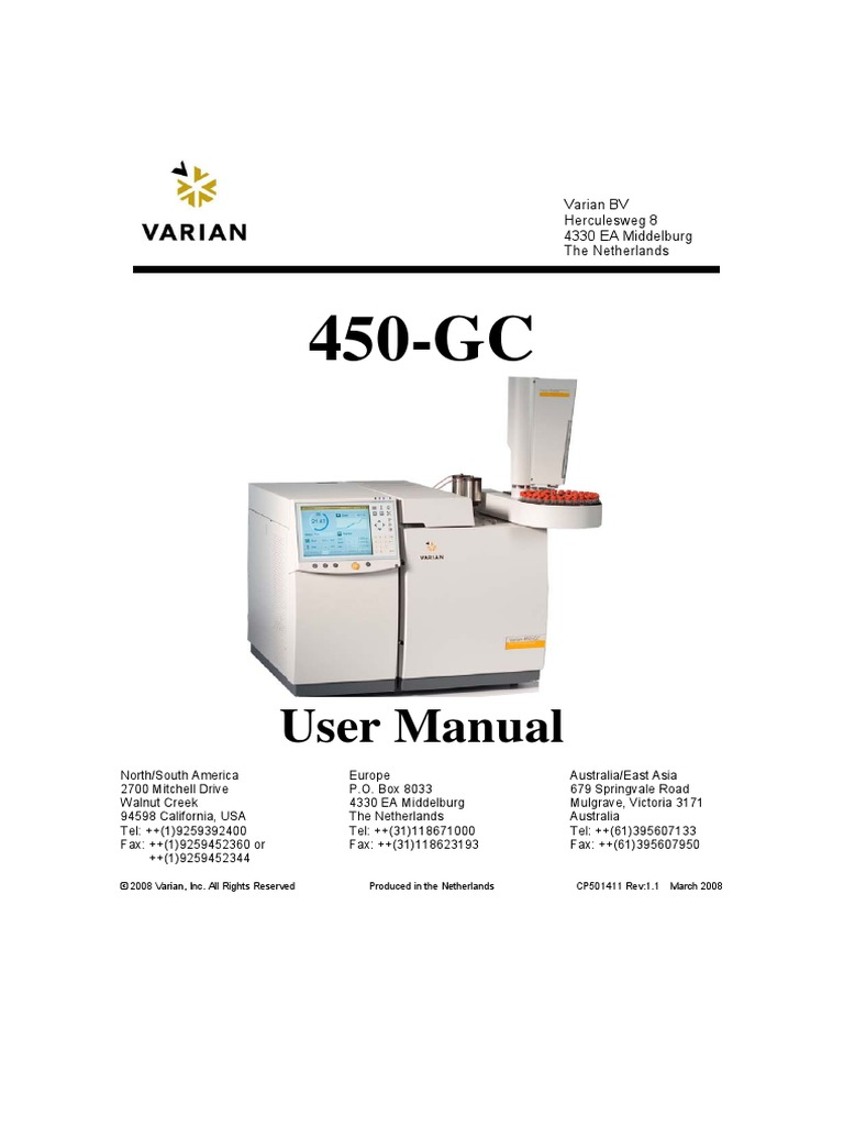 varian gc450 user manual english gas chromatography fuel injection rh scribd com Varian Tangled Varian Medical Systems