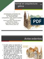 Análisis Formal Arquitectura Gótica