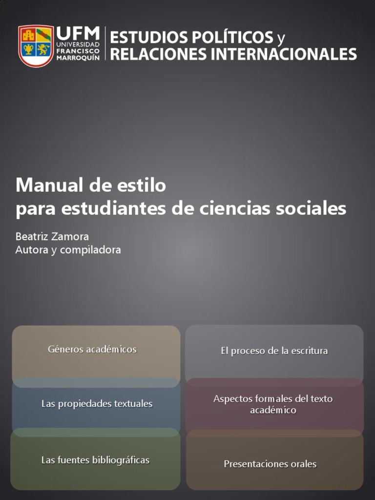 Zamora, Beatriz (2012) - Manual de Estilo Para Estudiantes de ...