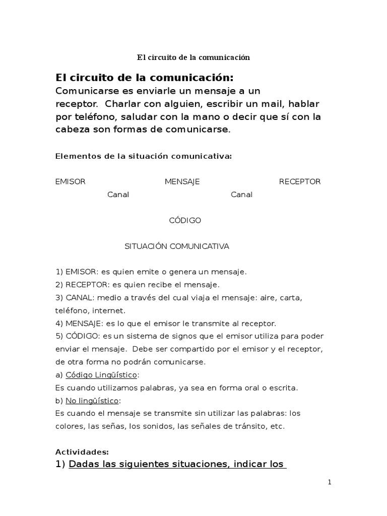 Circuito Comunicativo : El circuito de la comunicación.docx