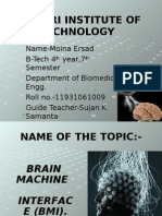 Brain Machine Interface (BMI) by Moina Ersad