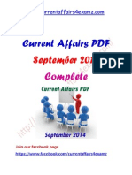 Sep 2014 Complete Current Affairs